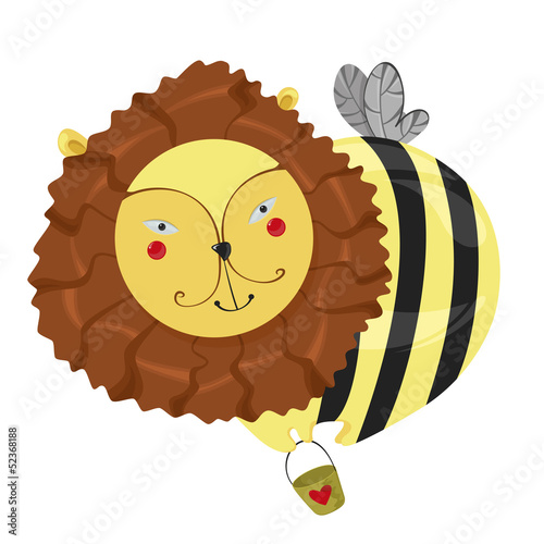 fantastic character lion-bee