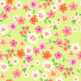 Bright floral vector seamless background