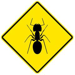 Sinal de perigo - formigas