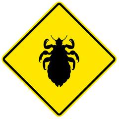 Sinal de aviso - piolhos