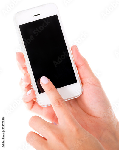 Using a touch screen phone