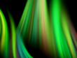 Abstract gentle green waves on black background