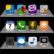 Set of app icons.