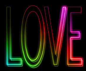 love in neon effect