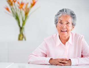 Beautiful elder woman