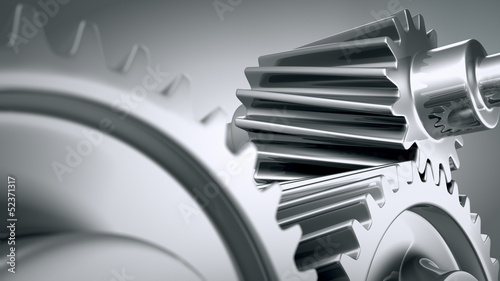 Close up of machine gears.