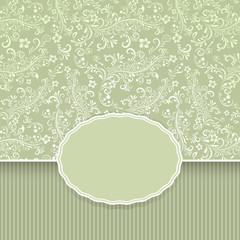 Seamless dark green floral vintage background