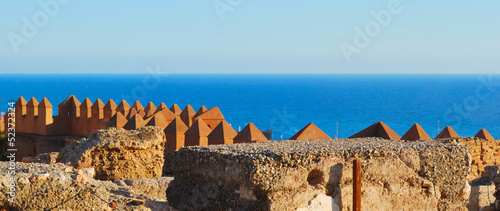 View of the sea from the Alcazaba in Almeria, Andalusia, SpaIN