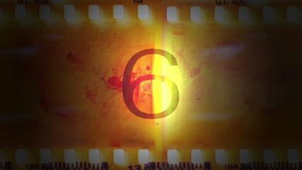 Pélicula de cine con una cuenta atrás