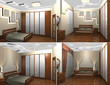 3d interior of the bedroom