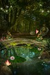 Постер, плакат: Enchanted nature series Enchanted pond
