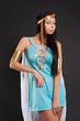 Pretty girl in Cleopatra role