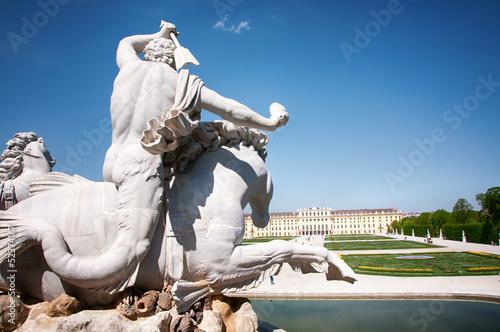 Statue at Castle Schönbrunn (Schonbrunn) in Vienna