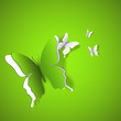 Green Butterflies Background