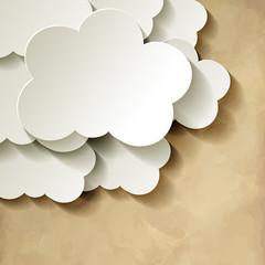 Cloud  Wolke Papier Vintage Ecke
