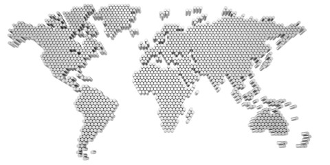 World concept isolated on white