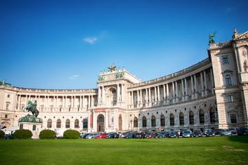 Hofburg in Vienna (Austria) with Statue of Prince Eugen