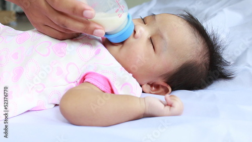 Little  baby drinking milk