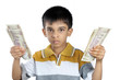 Boy with Indian Money