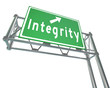 Integrity Freeway Road Sign Virtue Reputation Trust