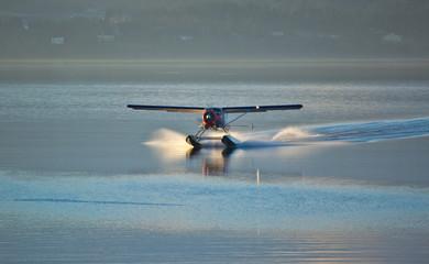 Seaplane Landing in Ocean