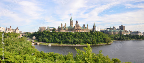 Foto op Aluminium Oude gebouw Parliament Buildings and Library, Ottawa, Ontario