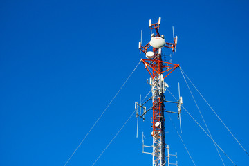 White and Red Communication Tower