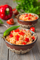Risotto with white kidney bean