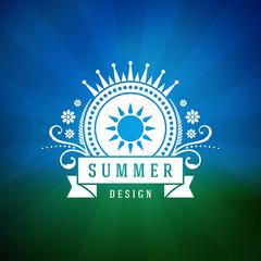 Retro summer design poster. Vector illustration.