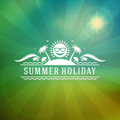 Retro summer design poster. Vector illustration.