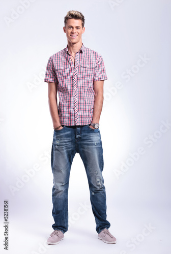 casual man with hands in pockets