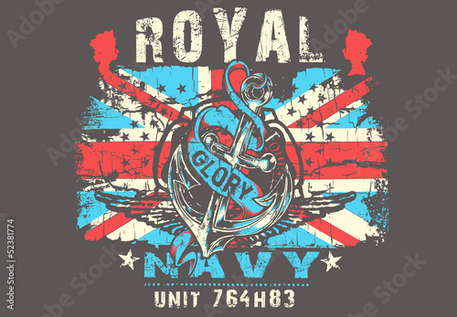 Sticker Royal Navy