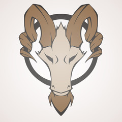 Mountain goat vector illustration