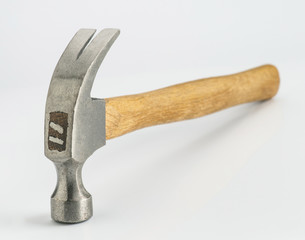 metal-headed hammer isolated on white background