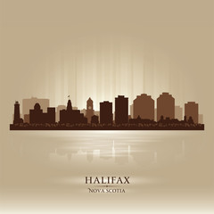 Halifax Canada skyline city silhouette