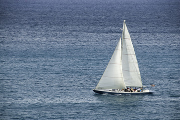 Racing Sloop in the Caribbean