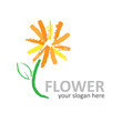 Vector logo flower