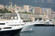Luxurious yachts on background The Monte Carlo Casino Monaco