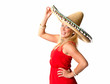 Blondine mit Sombrero