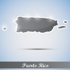 shiny icon in form of Puerto Rico