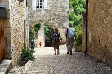 Touristes à Castelnaud la Chapelle