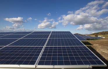 Solarpark bei Homberg (Effze) in Hessen..