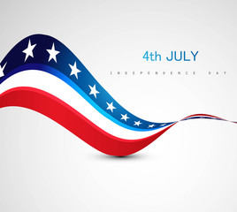 American Flag 4th july american independence day vector illustra