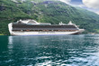 Cruise ship in Geirangerfjord (Norway)