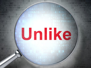 Social media concept: Unlike with optical glass
