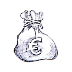 bourse d'argent signe euro