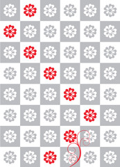 flower chessboard abstract background