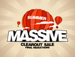 Massive summer sale design template with balloons