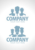 Doctors and cooks teams silhouette design
