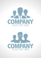 Business people team silhouette designs set